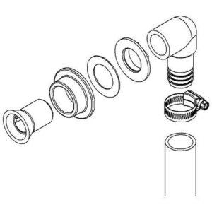 Σύνδεσμος σωλήνων για ηλεκτρική τουαλέτα