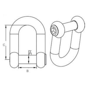 Κλειδί Inox Τύπου D Με Ενσωματωμένο Πίρο