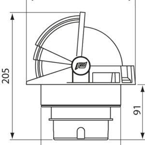 Πυξίδα Plastimo Olympic 135 Άσπρη – Μαύρη Κάρτα